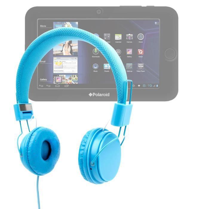 casque bleu enfant pour tablettes tactiles tablettes. Black Bedroom Furniture Sets. Home Design Ideas