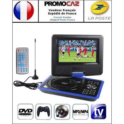 dvd console bleu portable mp3 mp4 tv sd usb lecteur dvd portable avis et prix pas cher. Black Bedroom Furniture Sets. Home Design Ideas