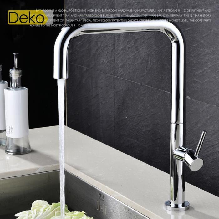 Ideko robinet mitigeur de cuisine 360 degr s salle de for Robinetterie haut de gamme pour salle de bain