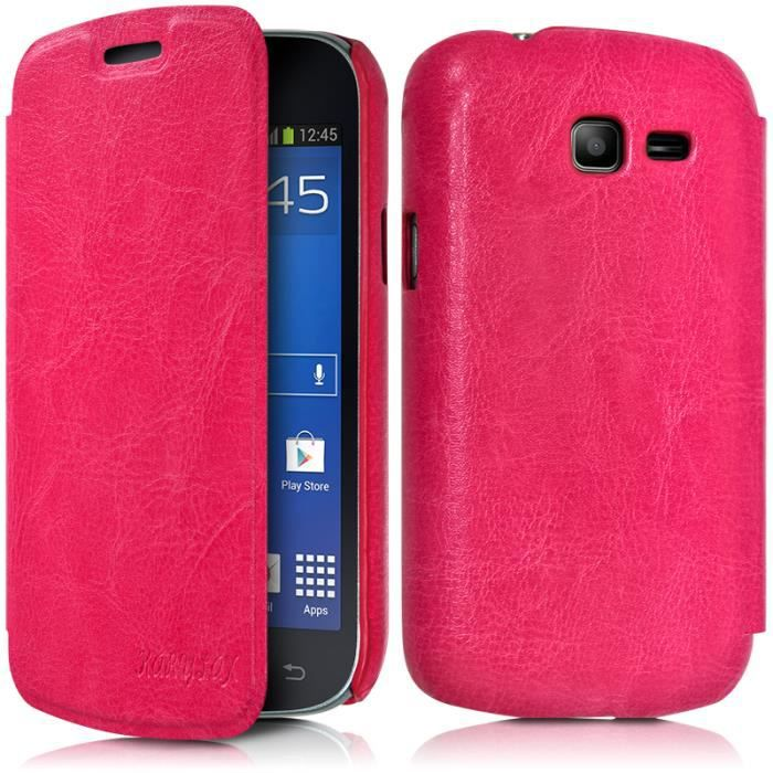 Etui rabat lat ral pour samsung galaxy trend lite achat - Housse pour samsung galaxy trend lite ...
