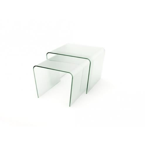 Table gigogne verre kenneth achat vente table a - Table gigogne verre ...