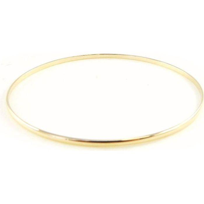 bracelet plaqu or jonc 66 mm achat vente bracelet. Black Bedroom Furniture Sets. Home Design Ideas