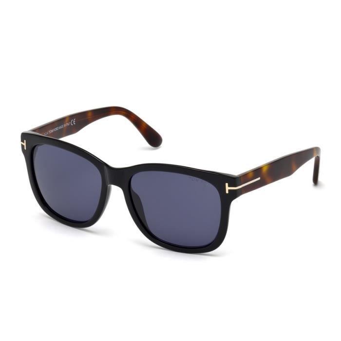 lunettes de soleil pour homme tom ford tf 0395 01v 57 noir achat vente lunettes de soleil. Black Bedroom Furniture Sets. Home Design Ideas