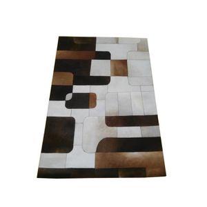 tapis peau patchwork achat vente tapis peau patchwork pas cher soldes cdiscount. Black Bedroom Furniture Sets. Home Design Ideas