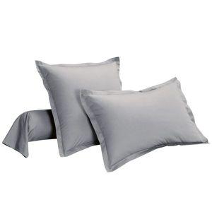 TAIE D'OREILLER 100% coton au tissage serré, 57 fils/cm²