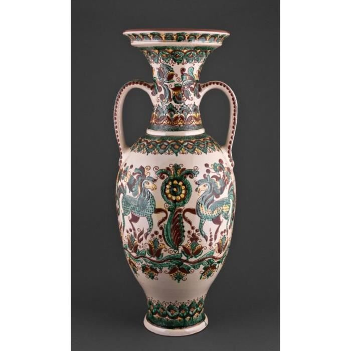 vase de sol c ramique artisanal amphore fait main achat vente vase soliflore cdiscount. Black Bedroom Furniture Sets. Home Design Ideas