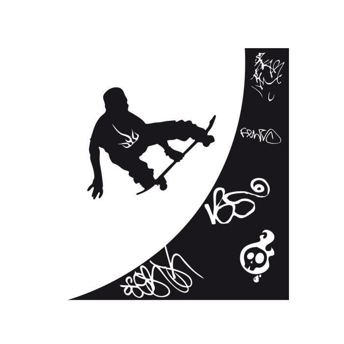 stickers enfant rampe de skate 56x49 cm achat vente stickers soldes d hiver d s le 11. Black Bedroom Furniture Sets. Home Design Ideas