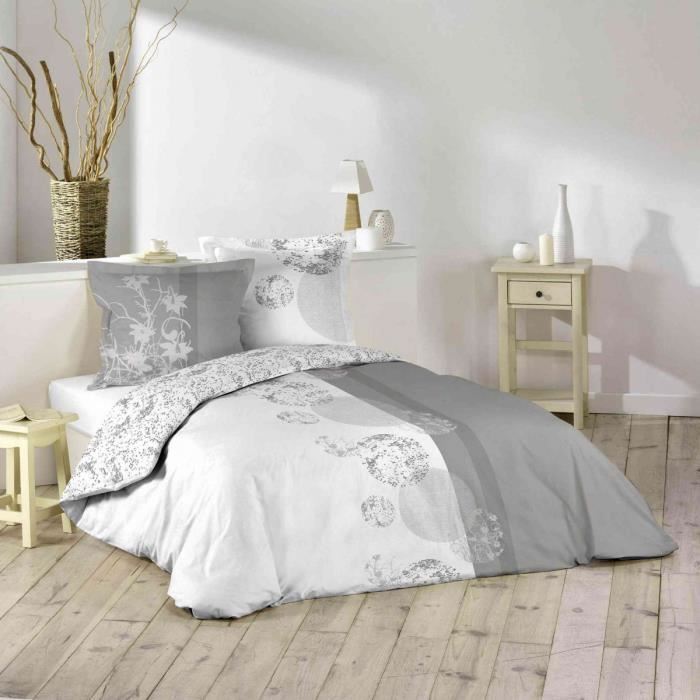 parure de lit 100 coton 220x240 bubbles achat vente. Black Bedroom Furniture Sets. Home Design Ideas