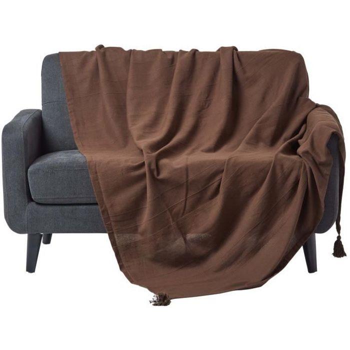 jet de lit ou de canap rajput tiss main chocolat 250 x 355 cm achat vente jet e de. Black Bedroom Furniture Sets. Home Design Ideas