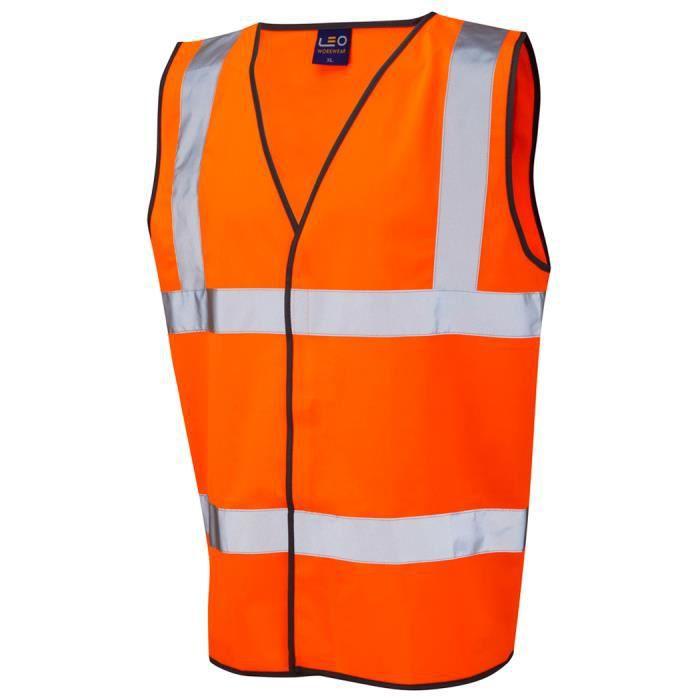 gilet homme leo hi vis sans manche grande taille 6xl orange orange achat vente gilet. Black Bedroom Furniture Sets. Home Design Ideas