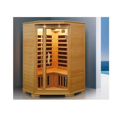 Sauna infrarouge 2 3 places d 39 angle gamme prestige achat vente kit sa - Sauna infrarouge 3 places ...