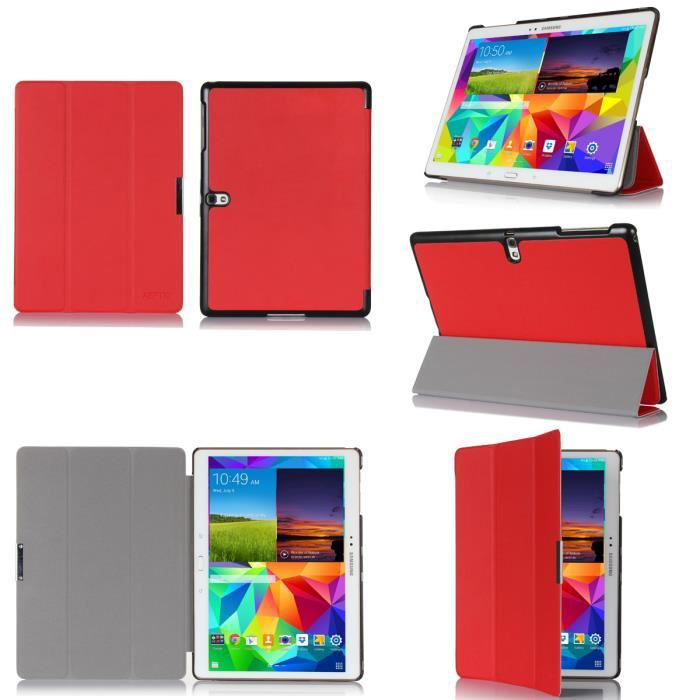 Etui samsung galaxy tab s 10 5 rouge housse coque achat for Housse galaxy tab s