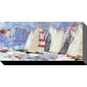 Tableau tempete bateaux achat vente tableau tempete for Poster sur toile