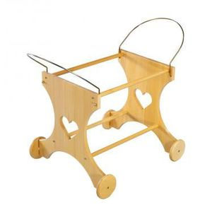 COUFFIN ET SUPPORT Support couffin chariot coeur en bois
