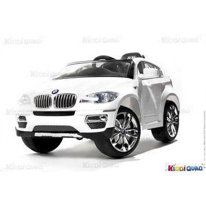 voiture lectrique pour enfant bmw x6 blanc achat vente voiture enfant cdiscount. Black Bedroom Furniture Sets. Home Design Ideas