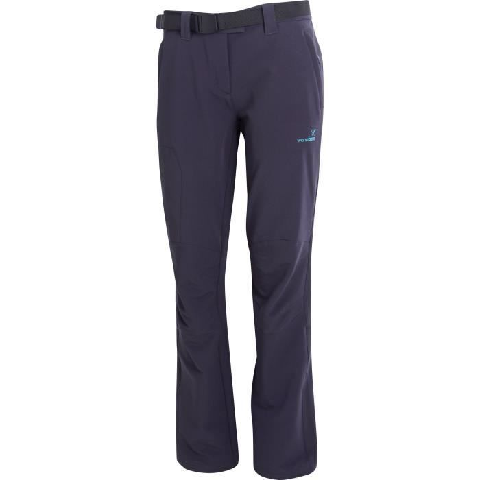 wanabee pantalon de randonn e ld fuji pan femme gris anthracite achat vente pantalon sport. Black Bedroom Furniture Sets. Home Design Ideas