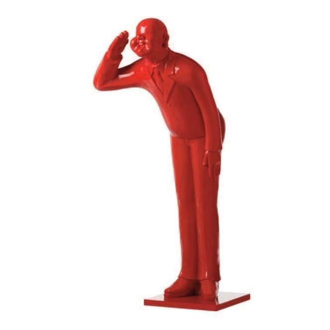 Statue En Resine : sculpture statue homme rouge en r sine achat vente statue statuette cdiscount ~ Teatrodelosmanantiales.com Idées de Décoration