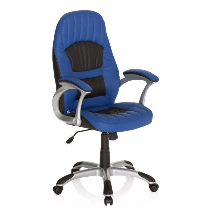 chaise de bureau fauteuil design racer 200 bleu achat. Black Bedroom Furniture Sets. Home Design Ideas