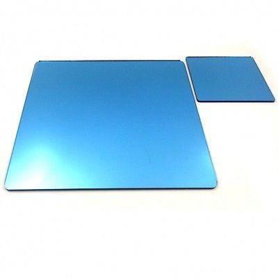 8 carr s napperons miroir bleu et sous verres achat for Miroir acrylique incassable