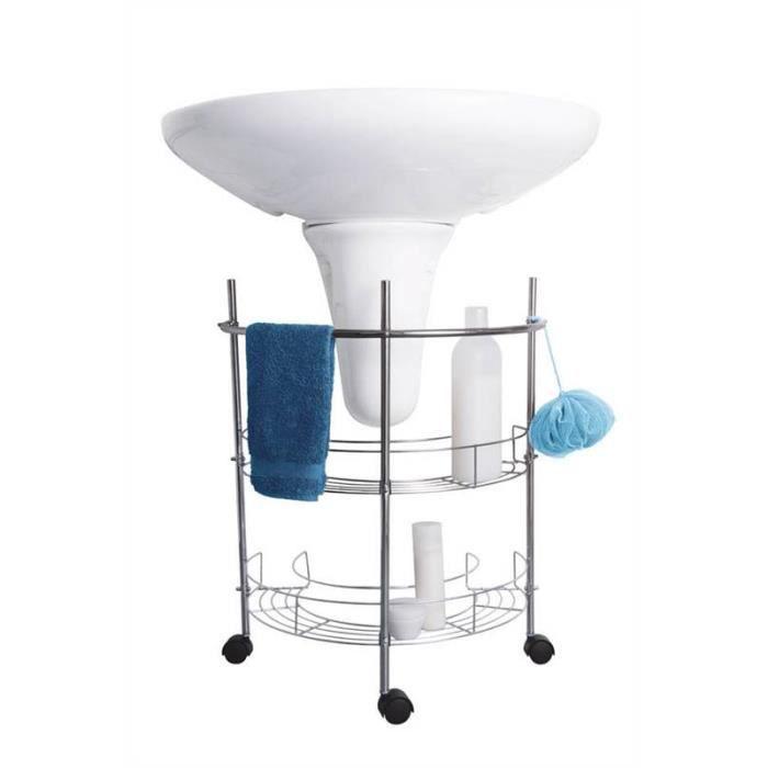 Organisateur salle de bain sous lavabo roulettes rangement for Salle de bain meuble lavabo