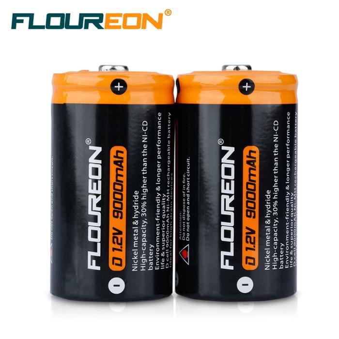 floureon 2x batteries piles eo nd 1 2v 9000mah ni mh rechargeable achat vente piles cdiscount. Black Bedroom Furniture Sets. Home Design Ideas