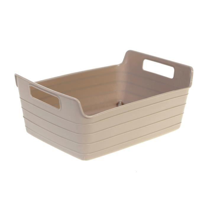 panier souple plastique 2 anses taupe achat vente panier bac rangement cdiscount. Black Bedroom Furniture Sets. Home Design Ideas