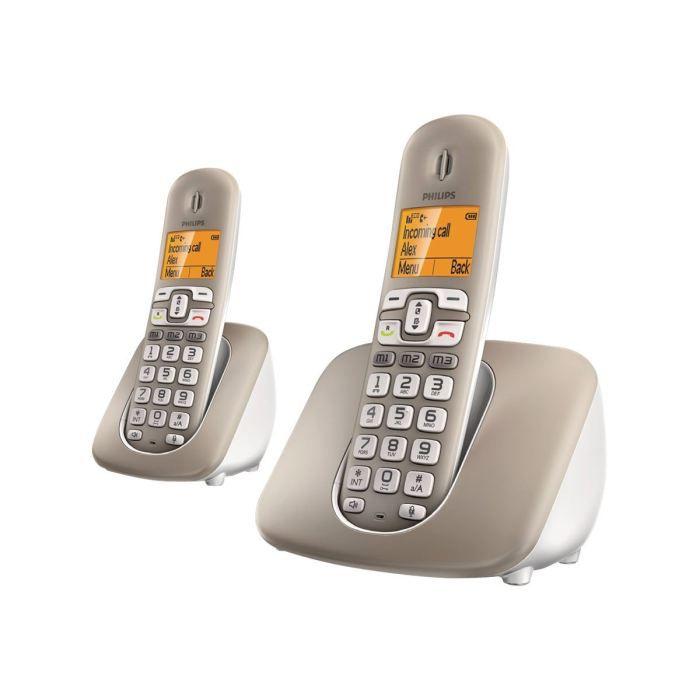 philips xl3902s t l phone sans fil avec id d 39 ap achat combin suppl mentaire pas cher avis. Black Bedroom Furniture Sets. Home Design Ideas