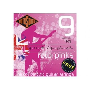 CORDE Jeu de Cordes guitare électrique Roto Pink Roto…