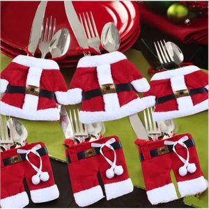Décors de table 6 en1 Décoration de Noël Père Noël Vêtements poche