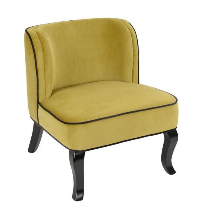 Chauffeuse velours moutarde achat vente chaise jaune - Pouf jaune moutarde ...