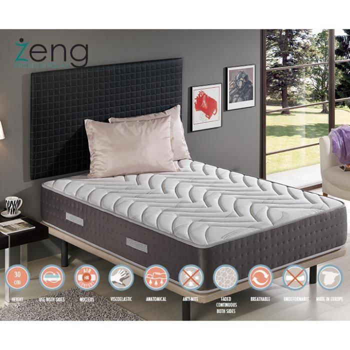 matelas 140x200 royal anti stress m moire de forme en visco graph ne achat vente matelas. Black Bedroom Furniture Sets. Home Design Ideas