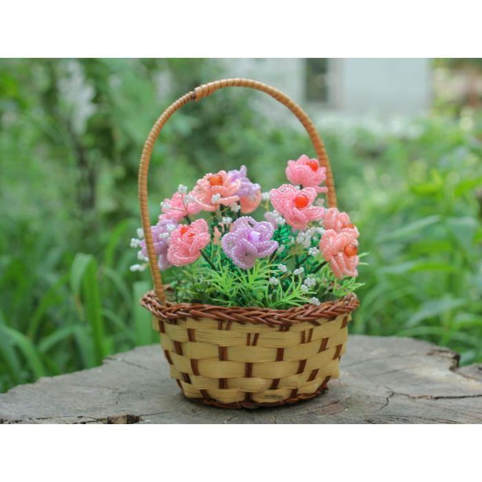 Fleurs artificielles dans le panier faites main achat for Vente fleurs artificielles