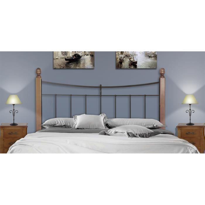 T tes de lit avec des poutres en bois mod le liberty t te de lit couleur - Modele tete de lit en bois ...