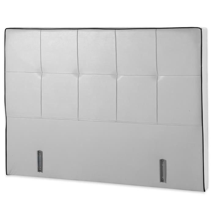 t te de lit cuir blanc smart 90 190 1 place achat vente t te de lit cdiscount. Black Bedroom Furniture Sets. Home Design Ideas