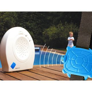 Alarme piscine enfant safety turtle bleue avec achat for Alarme piscine