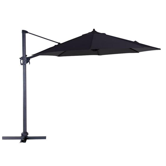 Parasol d centr noir mat noir rotation 360 3 m achat vente parasol ombrage parasol - Toile de parasol 8 baleines ...