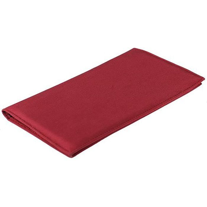 Portefeuille ch quier microfibre rouge bordeaux rouge achat vente porte ch quier for Achat porte interieur bordeaux