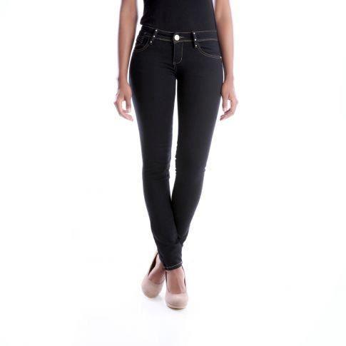 Jeans slim noeud et strass noir noir achat vente jeans cdiscount for Bureaux adolescente noir et strass