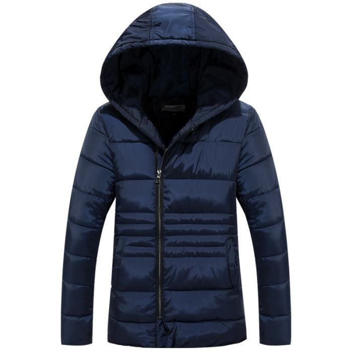 parka homme veste doudoune homme court manteau bleu marine achat vente parka cdiscount. Black Bedroom Furniture Sets. Home Design Ideas