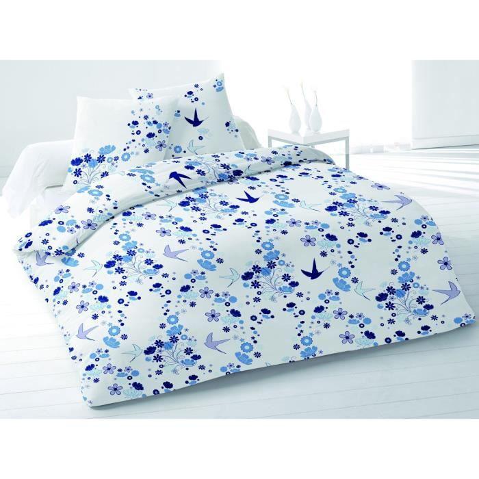 parure de couette hirondelle bleu 240x220cm achat. Black Bedroom Furniture Sets. Home Design Ideas