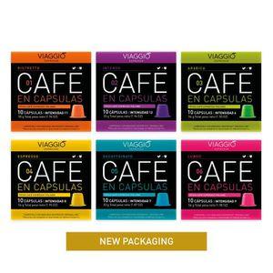 CAFÉ - CHICORÉE 60 CAPSULES DE CAFÉ GOURMET COMPATIBLE AVEC MACHIN