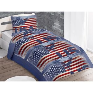 housse de couette 140x200 london achat vente housse de couette 140x200 london pas cher. Black Bedroom Furniture Sets. Home Design Ideas