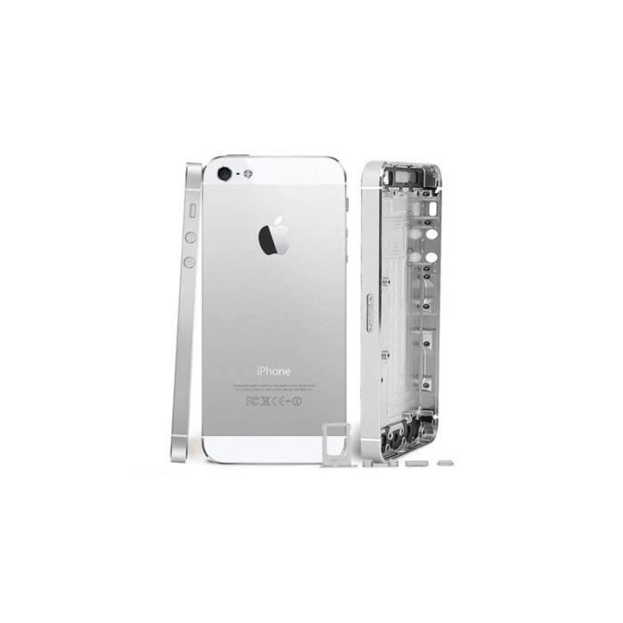 chassis coque arriere complet pour iphone 5 blanc achat pi ce t l phone pas cher avis et. Black Bedroom Furniture Sets. Home Design Ideas