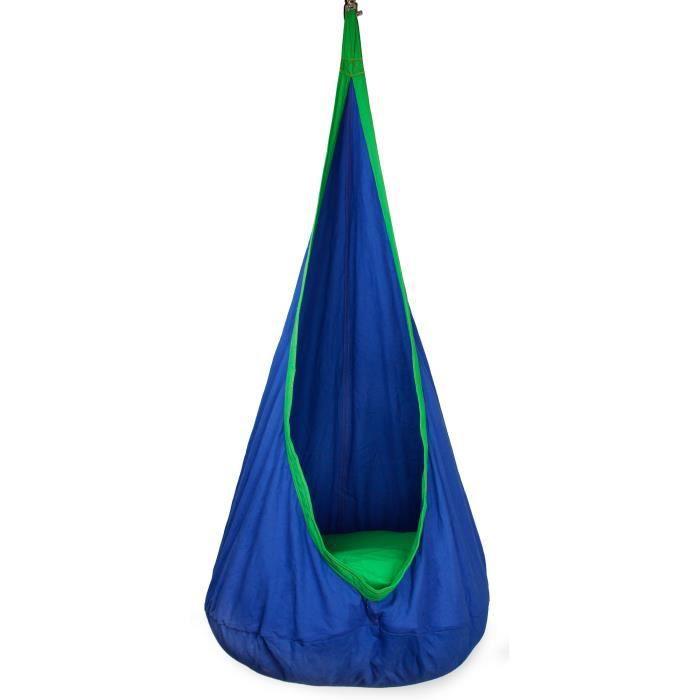 Fauteuil Suspendu De Relaxation Cocon Bleu Et Vert 100