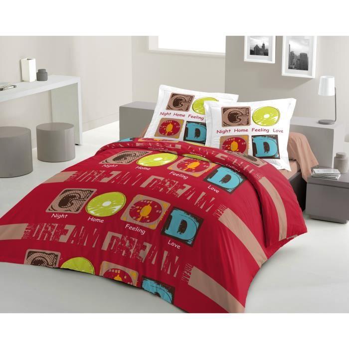 housse de couette good dream 240x260cm rouge achat. Black Bedroom Furniture Sets. Home Design Ideas