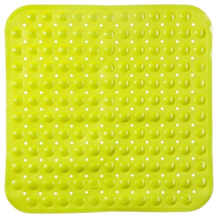 tapis de fond de douche vert anis achat vente anti d rapant bain tapis de fond de douche. Black Bedroom Furniture Sets. Home Design Ideas