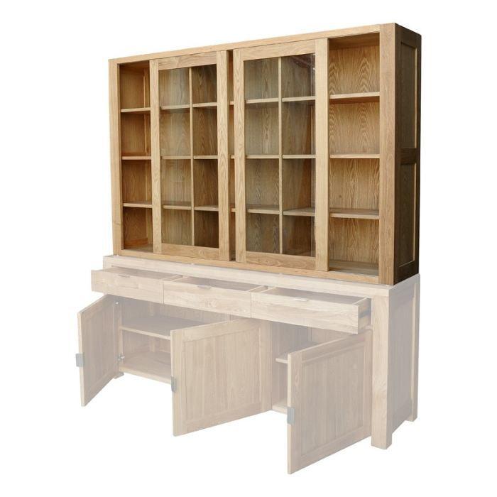vitrine fr ne 2 portes gamme essentielle inwood achat vente vitrine argentier vitrine. Black Bedroom Furniture Sets. Home Design Ideas