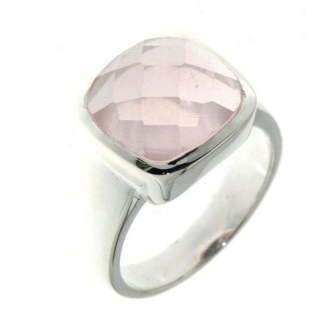 Bague Argent 925 Quartz Rose : Bague argent quartz rose achat vente anneau
