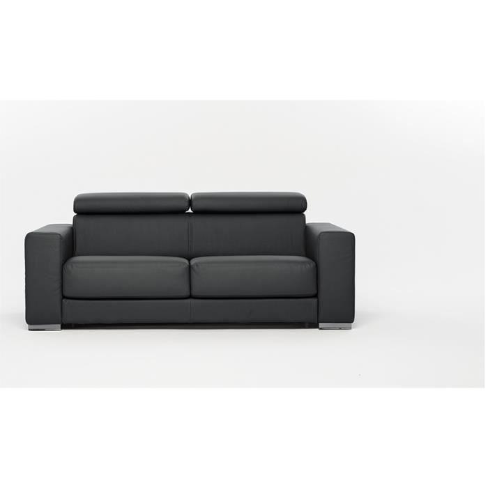 Canap convertible lit riga microfibre gris achat vente canap sofa d - Canape microfibre gris ...