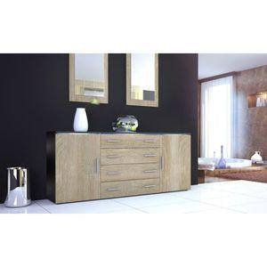 buffet noir et bois achat vente buffet noir et bois. Black Bedroom Furniture Sets. Home Design Ideas